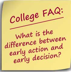 FAQ-early action vs early decision