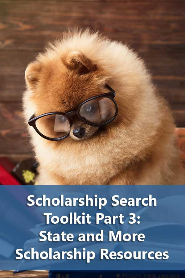 Listing of state scholarship resources along with free tools to organize your scholarship search and links to specialized scholarship listings.