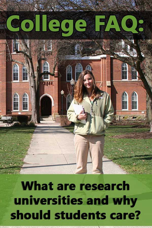 FAQ: What are research universities and why should students care?