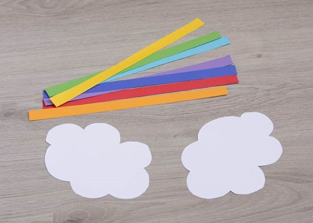 cute rainbow paper kid craft DIY