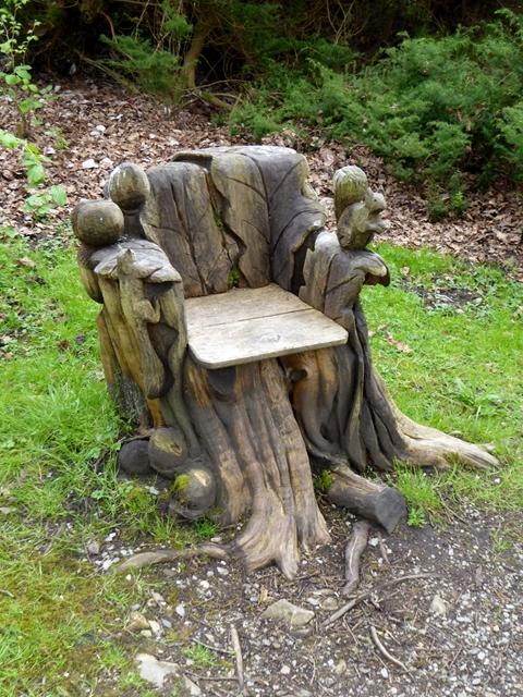 turn a tree stump to DIY chair