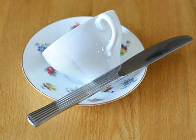 make DIY teacup feeder