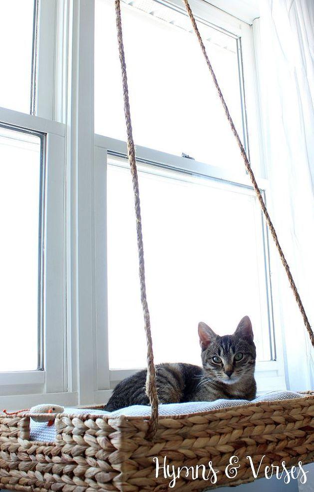 DIY Cat Bed Hanging Basket