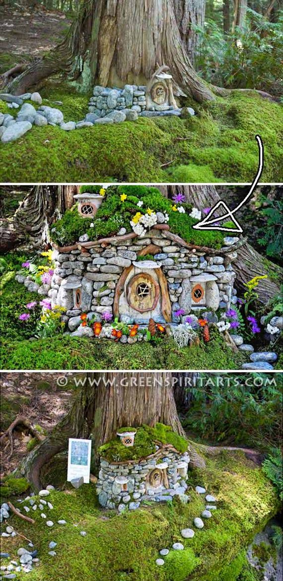 Cutest Miniature Stone Houses  DIYCraftsGuru