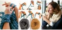 Homemade Arm Knitting Scarf - DIYCraftsGuru