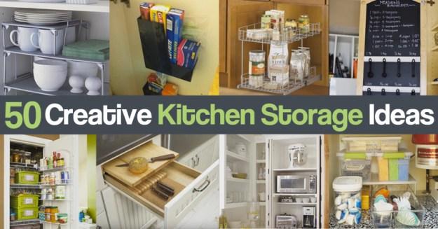 diy craft zone 50 creative kitchen storage ideas - diy craft zone