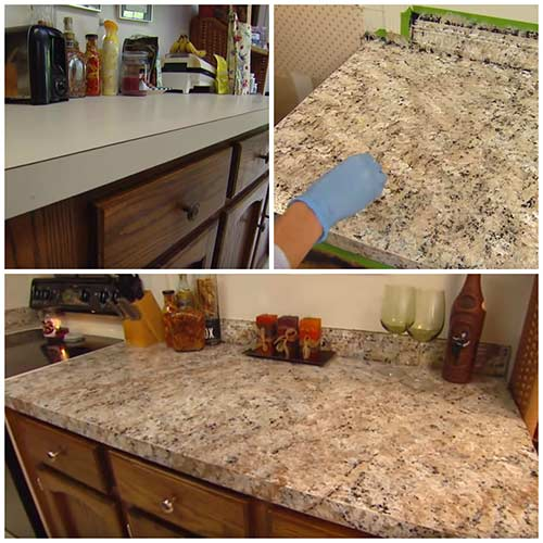 How To Paint ANY Countertops To Look Like Granite – DIY CREATED