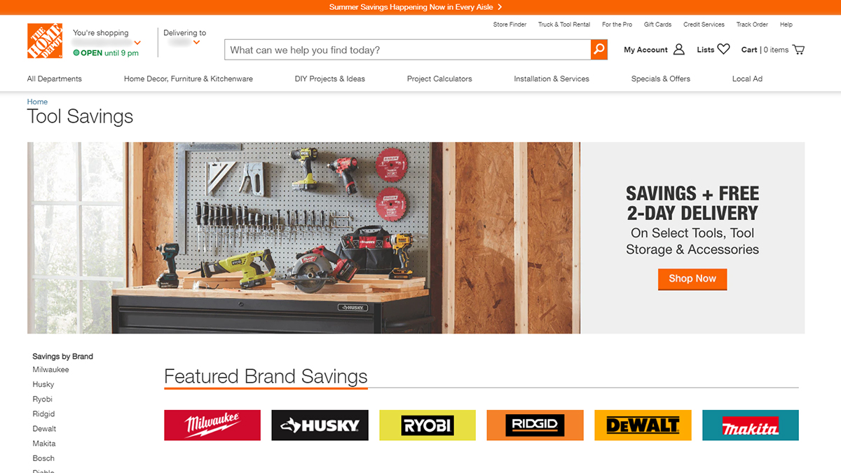 Save Money On Tools The Home Depot Online