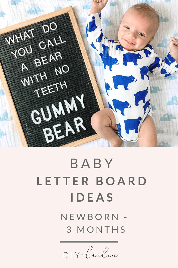 Baby Letter Board Ideas: Newborn - 3 Months - DIY Darlin'