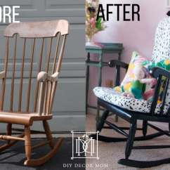 Building A Rocking Chair Used Patio Chairs For Sale Diy Upholstered Home Decor Mom Before And After Cushion How To Make
