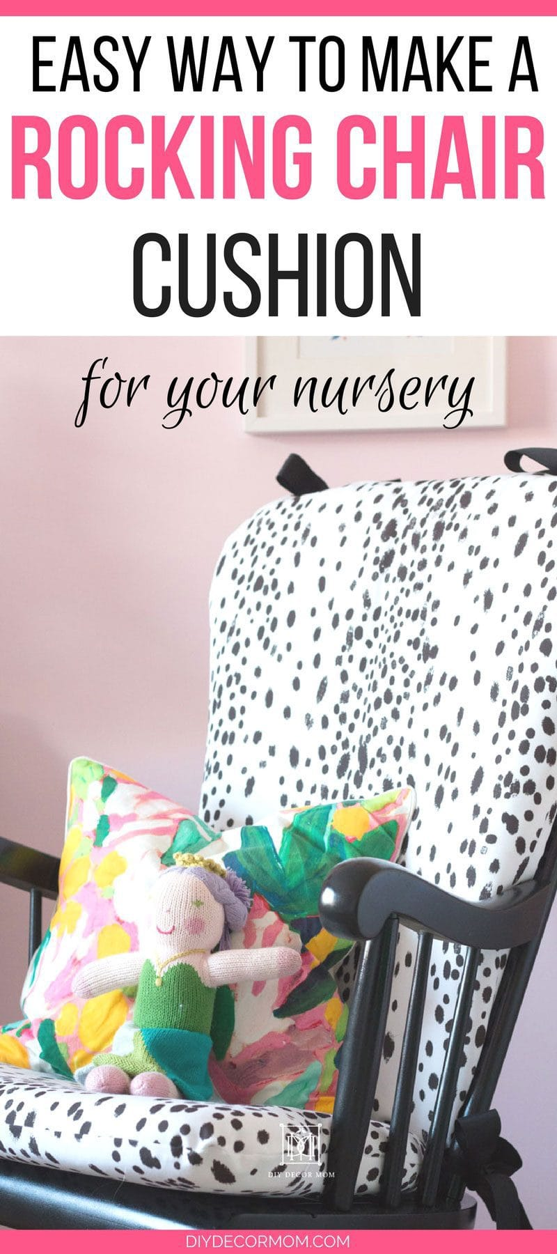 polka dot rocking chair cushions kitchen table with high chairs diy upholstered home decor mom cushion tutorial