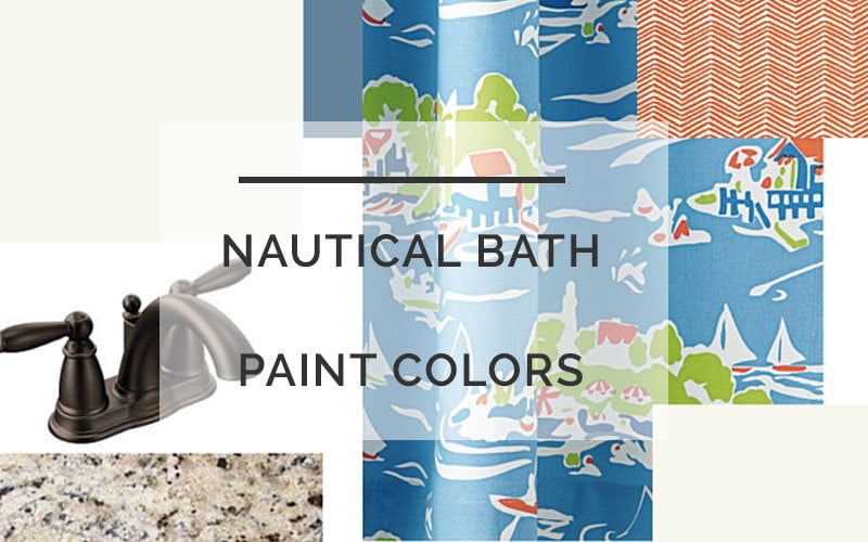 Nautical Bathroom Color Scheme: One Room Challenge