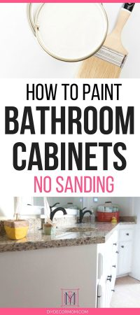 How to Paint Bathroom Cabinets: Why You Shouldn't Sand
