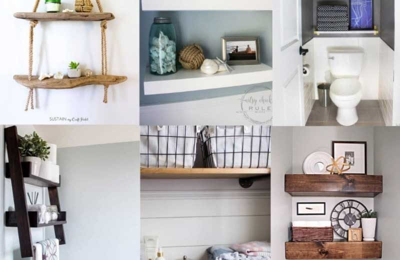 Bathroom Shelf Ideas 15 Clever DIY Bathroom Shelves for