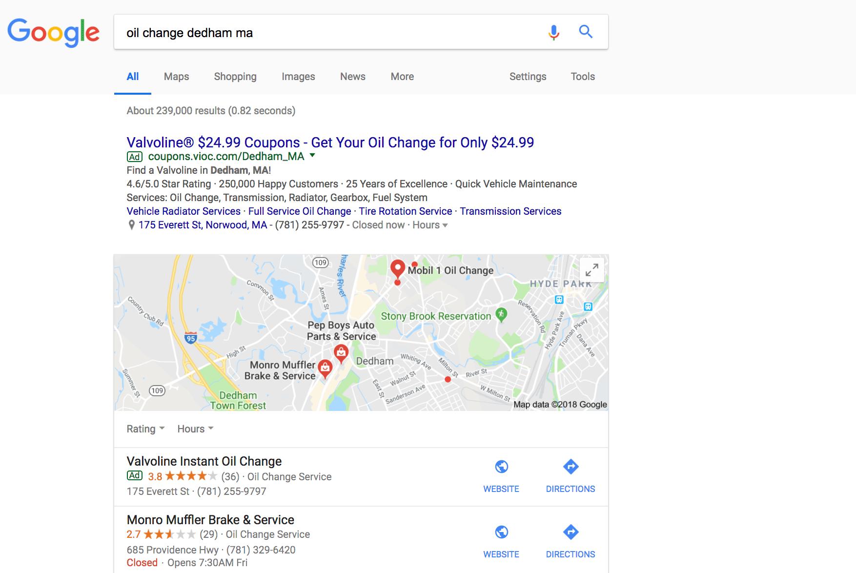 Local Search Ad
