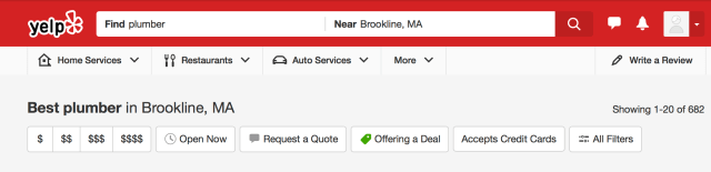Yelp directory listing