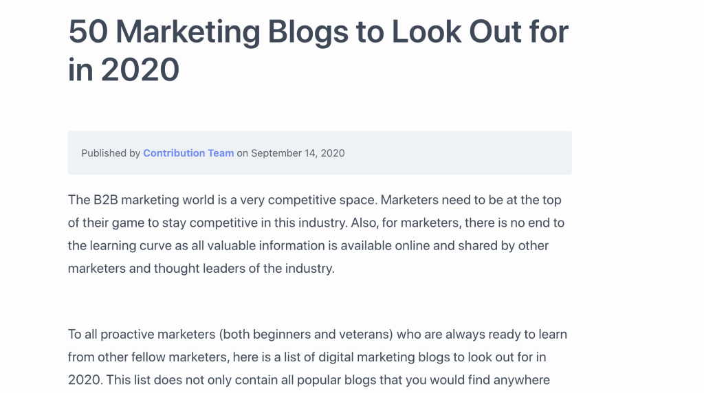 Top Marketing Blogs