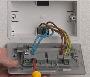 Desserrer les bornes électriques à l'arrière de la prise