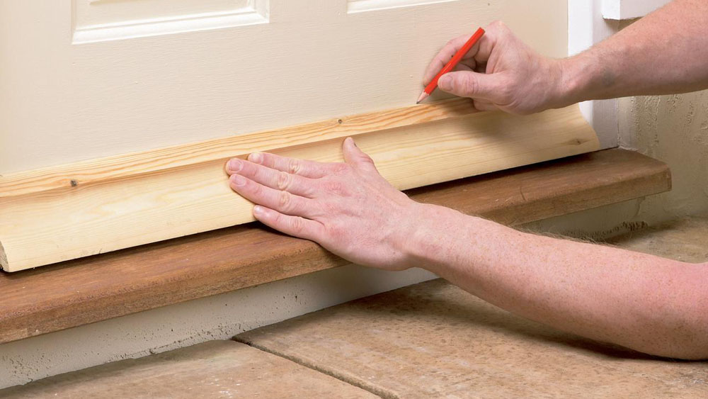 How to Fit a Weatherboard to a Door to Prevent Leaks and