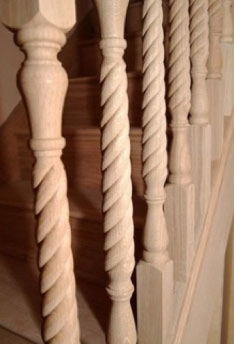 Balustrades And Handrails Including Stair Spindles Diy Doctor   Barley Twist Stair Spindles   Antique   Square   Victorian   Provincial   41Mm