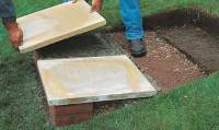 How to Make Patio Steps From Brick and Concrete Using ...