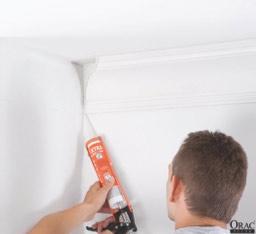 Apply decorators caulk to the mitre joints