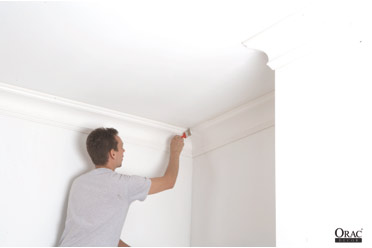 Allow adhesive to dry then decorate the coving