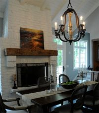 How to Paint a Brick Fireplace | Transforming old ...