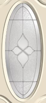 ThermaTru Concorde 16 x 40 Oval Glass and Frame