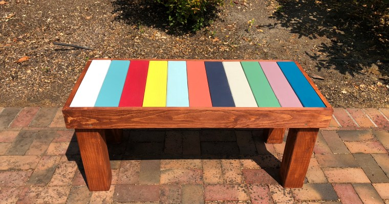 DIY COLOR BENCH