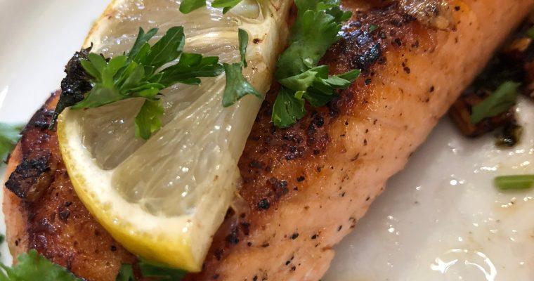 Garlic and Herb Seared Salmon