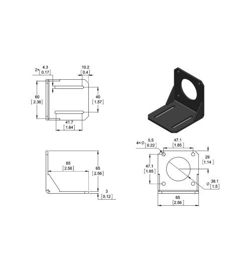small resolution of stepper motor mounting bracket nema 23 diagram