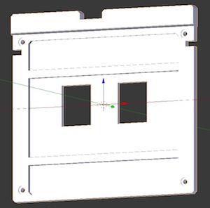 Button panel modelled in Blender