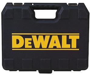 The carry case for the Dewalt D25133K SDS hammer drill