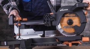 The Evolution R255SMS+ Mitre Saw