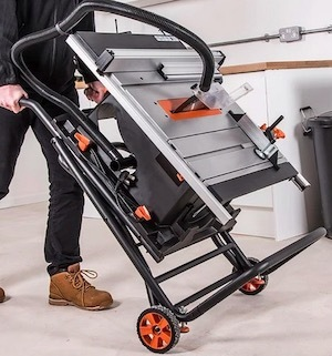 The Evolution RAGE5-S has its own integrated trolley