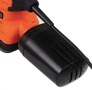 The dust collection box on the Tacklife 130W PMS01A detail sander