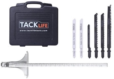 The accessories that come with the Tacklife PJS02A jigsaw