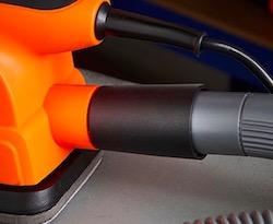 The vacuum port of the VonHaus 130W detail sander