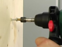 Image of the adaptor used on the Bosch PBH 2100 RE SDS+ hammer drill for securing screwdriver bits