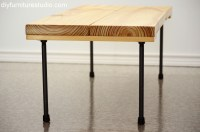 Rustic Modern Coffee Table or Bench with Plumbing Pipe