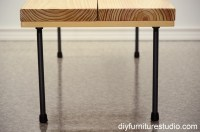 Rustic Modern Coffee Table or Bench with Plumbing Pipe ...
