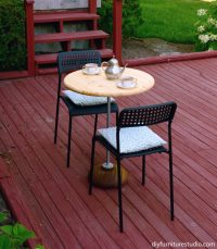 Rustic Modern Pedestal Bistro Table  DIY Furniture Studio