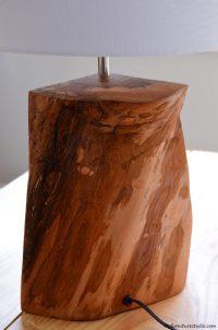 DIY Rustic Natural Wood Table Lamp  DIY Furniture Studio