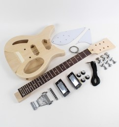 rickenbacker style semi hollow diy guitars [ 1200 x 1200 Pixel ]