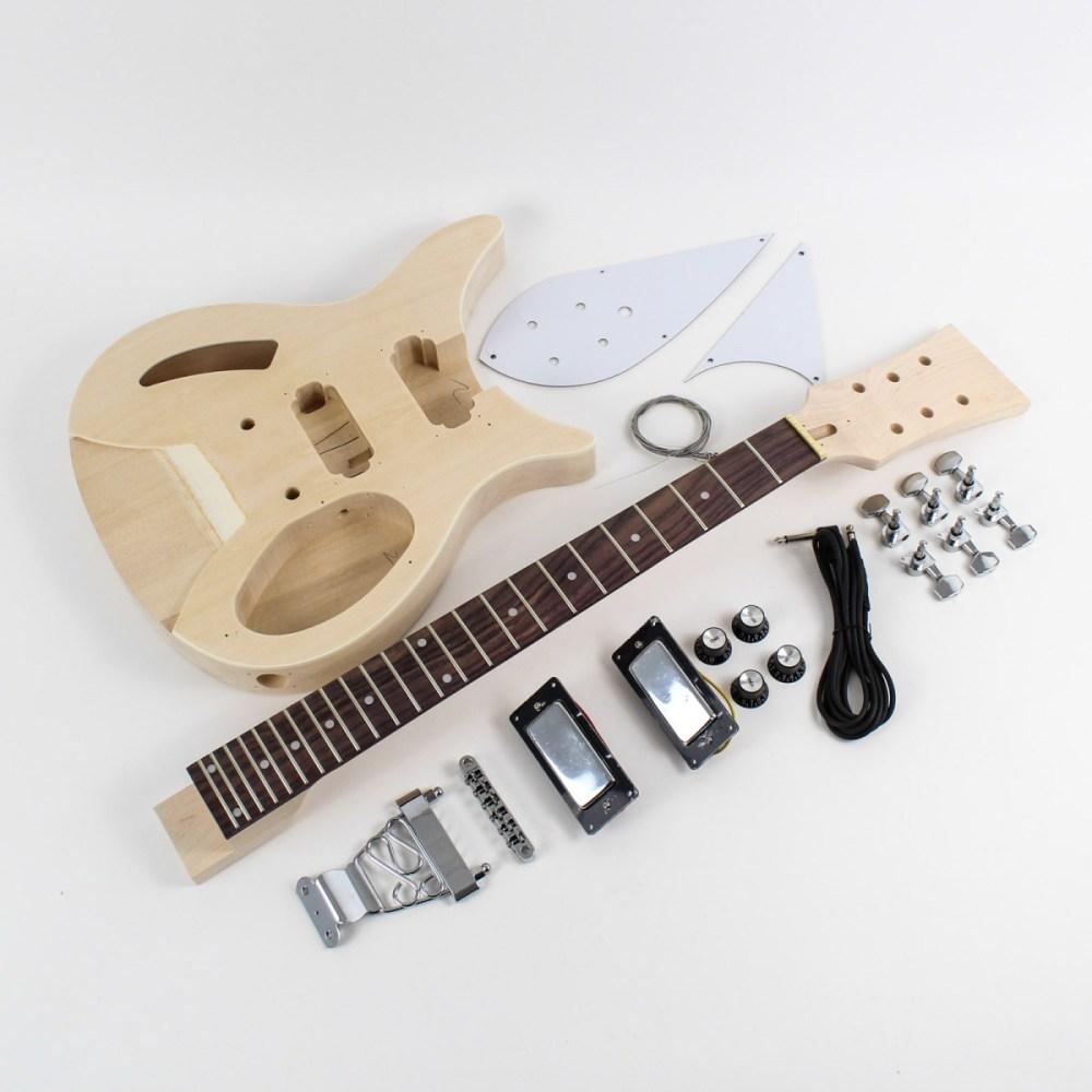 medium resolution of rickenbacker style semi hollow diy guitars