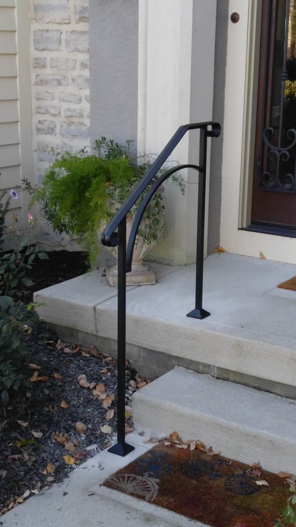 Diy Handrails Installation Outdoor Stair Railing Kits | Building A Handrail For Concrete Stairs | Deck Railing | Deck | Steel Handrail | Porch | Outdoor Stair
