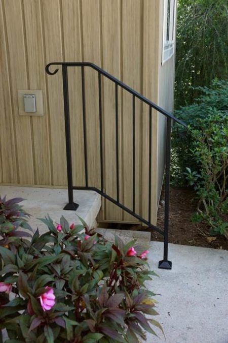 Shop Diy Wrought Iron Handrail Handrails For Indoor | Diy Handrails For Exterior Stairs