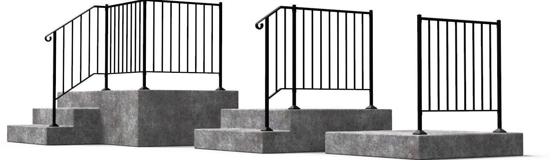 Shop Diy Wrought Iron Handrail Handrails For Indoor Outdoor Steps | Outdoor Metal Stairs For Sale | Steel Pipe | Charcoal Metal | Prefabricated Steel | Beautiful Steel Patio | Steel Ornamental