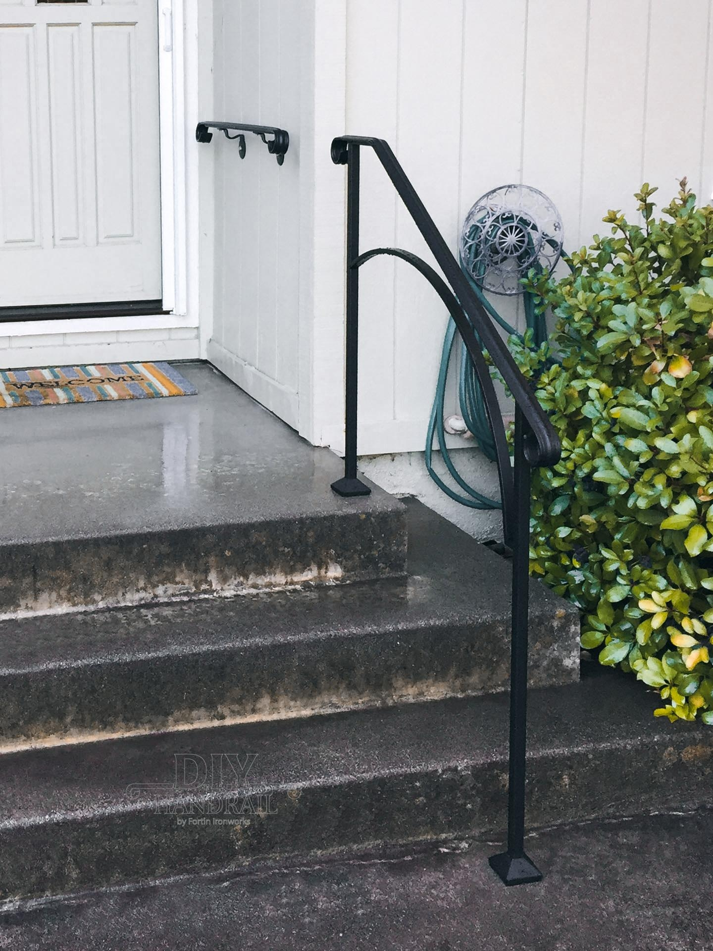 Wrought Iron Outdoor Handrails Custom Handmade Railings   Wrought Iron Handrails For Outside Steps   Stair Covering   Front Porch   Metal